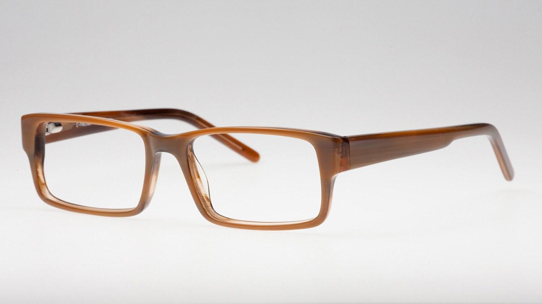 Eyeglass Frames Without Temples : Rectangular Reading Glasses Eyeglass Frame Brown Glasses