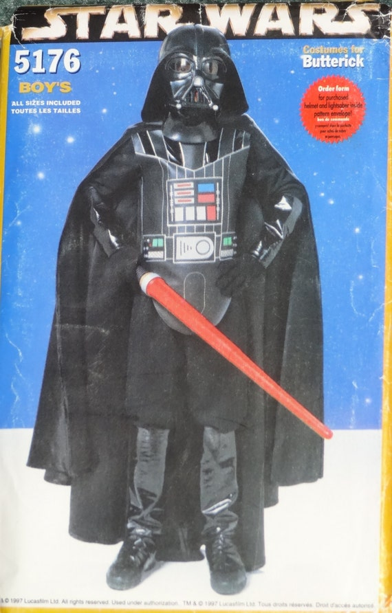 1990s boy's Darth Vader costume pattern - Butterick 5176