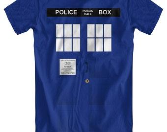 Police Box Men's Blue T-Shirt