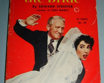 Vintage Paperback Book Father Of The Bride Movie Edition Elizabeth Taylor