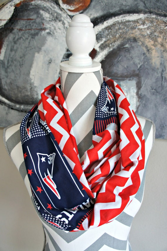 New England Patriots Red Navy Blue Chevron By Pinkpearboutique