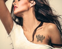 Butterfly tattoo. Temporary tattoos. Party fake tattoo