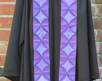Pruple Cathedral Window Preaching Stole