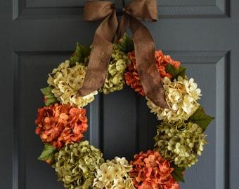 Fall Wreath | WREATHS | Front Door Wreaths | Outdoor Wreaths | Wreaths for Door | Summer Wreath | Hydrangea Wreath