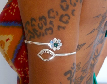 Silver Armlet - Silver Arm Bracelet - Upper Arm Cuff - Upper Arm Bracelet - Arm Bangle - Silver Armband - Gypsy Amlet