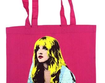 Stevie Nicks Pop Art Tote Bag
