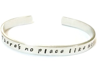 Wizard of Oz - There's no place like Home - Wizard of oz bracelet cuff - Movie quote jewelry - Graduation gift