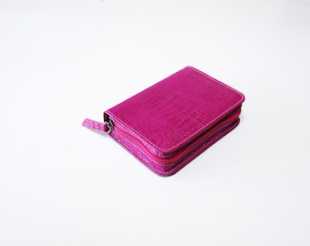 POCKET Bible Cover Jehovah's Witness New World Translation - Hot Pink Leather