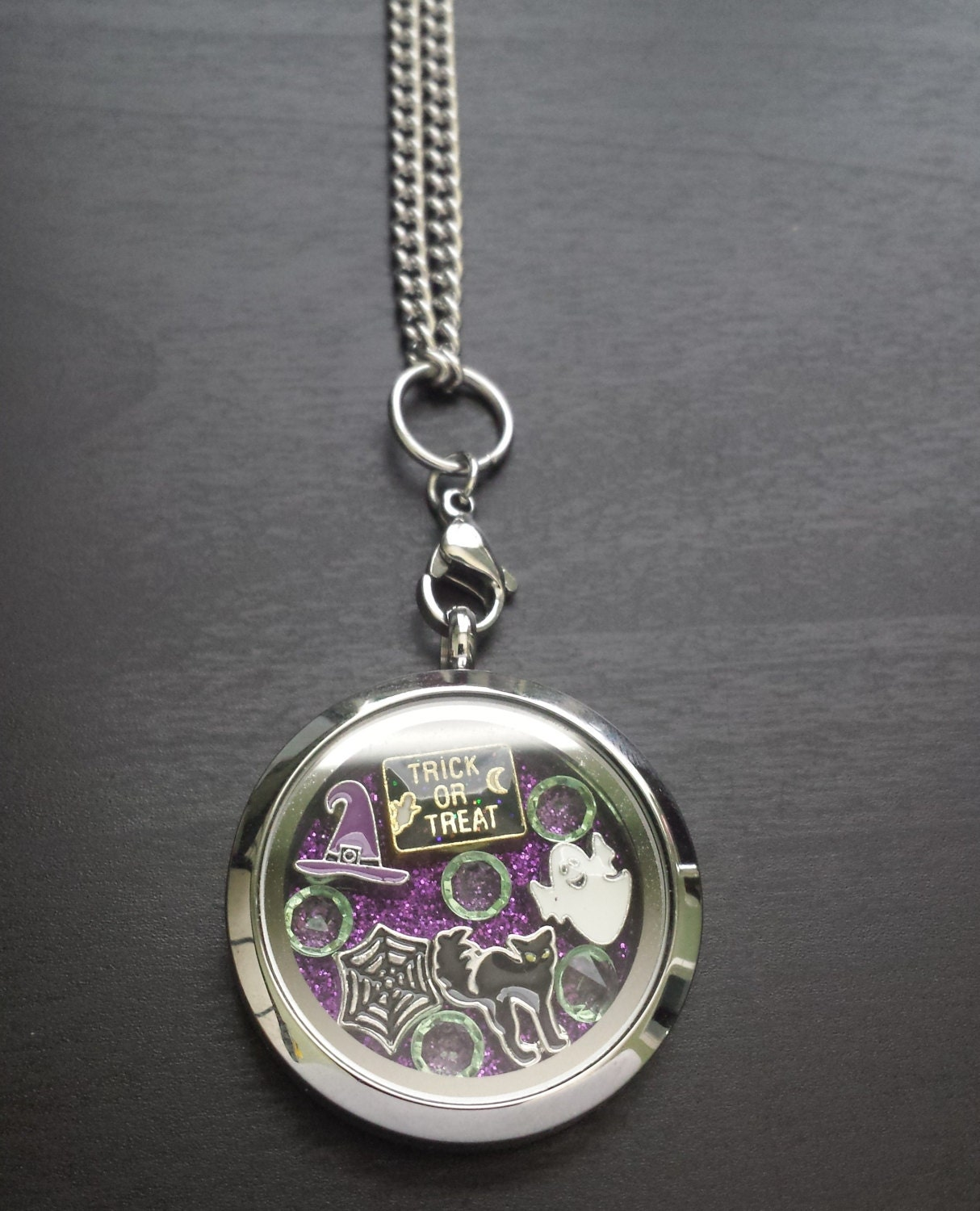 floating charm locket necklace includes locket