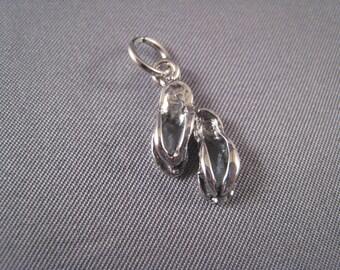 Flip Flops .925 Sterling Silver Charm