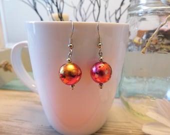 Swirl Bead Dangle Earrings