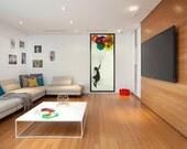 Modern Wall Art,Extra Large Mirror,Music Wall Art,Oversized Wall Art,Tall Wall Art,Banksy,Balloon Girl,DJ art,Retro Art,Unique Wall Hanging