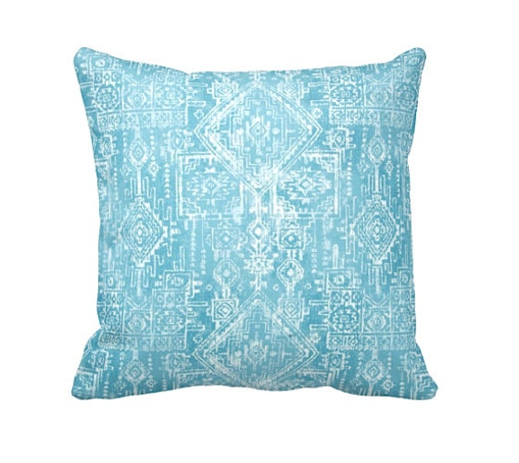 7 Sizes Available: Tribal Pillow Cover Blue Throw Pillow ...