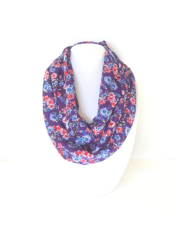 purple infinity scarf lightweight scarf summer scarf gift