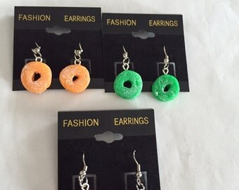 Fruit Cereal Earrings!