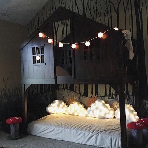 Illuminated Cloud Pillow, (Medium) Cloud Pillow White, Nursery Light, Bed Pillow, Accent Cushion, Cloud Light Pillow, Night Light