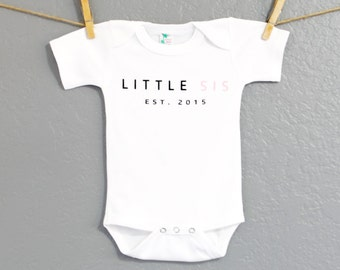 Personalized Soft White Baby Onesie Last Name Onesie by ...