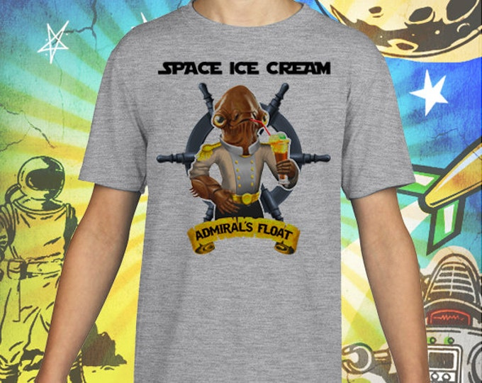 Admiral's Ice Cream Float Gray Kid's T-Shirt