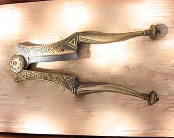 Brass Betel Nut Cutters Antique Early 1900's
