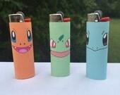 Pokemon Starter Full Size Lighters - Bulbasaur/Charmander/Squirtle