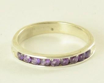 Amethyst Eternity sterling silver ring!