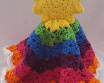Sunshine & Rainbow Lovie - Crochet - Made to Order
