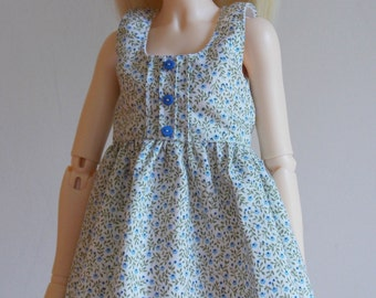 Blue floral print dress  for MSD Minifee/Unoa, Slim Mini