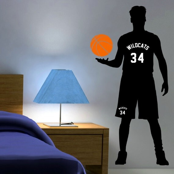 Personalized Basketball Wall Decal Basketball Gifts