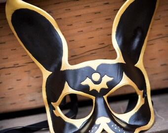 Golden Splicer leather mask