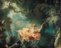 The Swing by Jean Honore Fragonard, various sizes. Giclee Canvas Art Print
