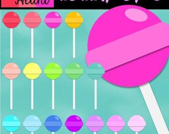Bright Lollipops Clip Art