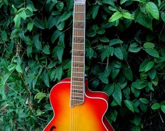 Handmade semi-acoustic guitar