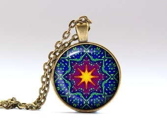 Art jewelry Geometry pendant Color necklace OWA145