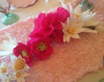 Hand-Made Rose and Daisy Paper Flower Garland