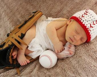 baseball, HAT , beanie, Newborn, baseball Hat, baseball Hat, Baby Boy Hat, Toddler Hat, crochet, sports, its a boy, HomeRun
