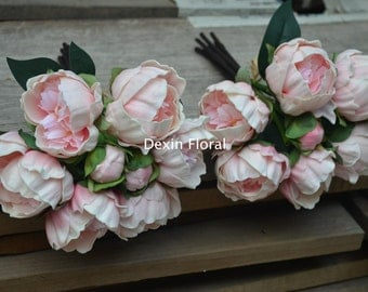 Pink Peonies For Silk Bridal Bouquets Real Touch Flowers Bridesmaids bouquets, Wedding Flowers Centerpieces