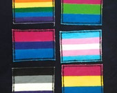 LGBTQ Pride Flag patches - Gay rainbow, pansexual, polysexual, bisexual, transgender and asexual!