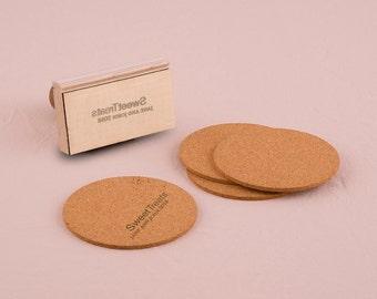 Custom Rubber Stamp - Personalized Wedding Favor Stamp - Monogram Simplicity Personalized Rubber Stamp - Wedding Favor - Favors - Gift