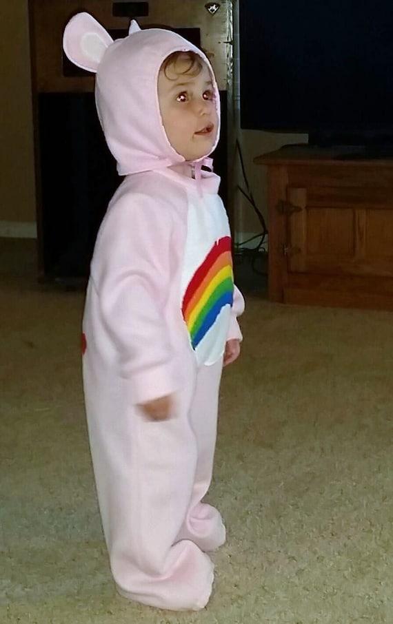 1T 2T Care Bear Costume Cheer Bear Rainbow Bear Fleece one