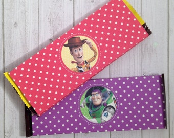 10 - Toy Story Buzz & Woody Hershey Bar Candy Wrappers Birthday Party Favor Buzz Lightyear Woody Toy Story Party Supplies