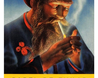 Vintage Zig Zag Poster, Papel De Fumar, Smoking, Rolling Papers, Weed, Cigarettes