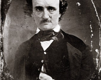 Edgar Allen Poe Poster, Writer, Author, Poet, Literary Critic, Romantic Movement, Mystery and Macabre