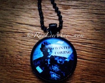 Game of Thrones inspired necklace! White Walker, Winter is Coming, khaleesi, dragons, House Crests