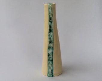 Blue Tapered Slab Vase
