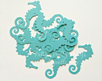 Seahorses Die Cuts, Seahorses Confetti, Mermaid Theme Die Cut, 20 Ct.