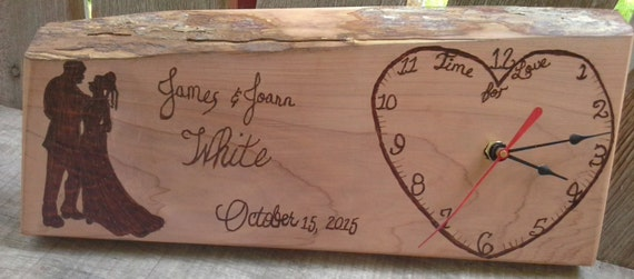 Wedding Gift Clock: Personalized Wedding Gift Wedding Clock By SmolderingCreations