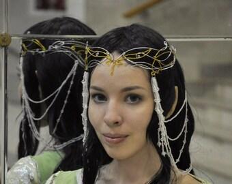 Tiaras Arwen.Circlet Evermore - Bridal Wedding Celtic Elven Crown Headpiece Headdress Tiara - LOTR Arwen Galadriel Medieval Renaissance