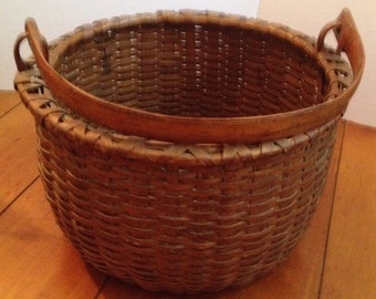 Antique Taconic Swing-Handled Basket
