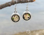 Shell earrings, Coral earrings, Beach nautical sea, Sea beach earrings, Beach party jewelry, Moss earrings, Moss jewelry, Starfish jewelry.