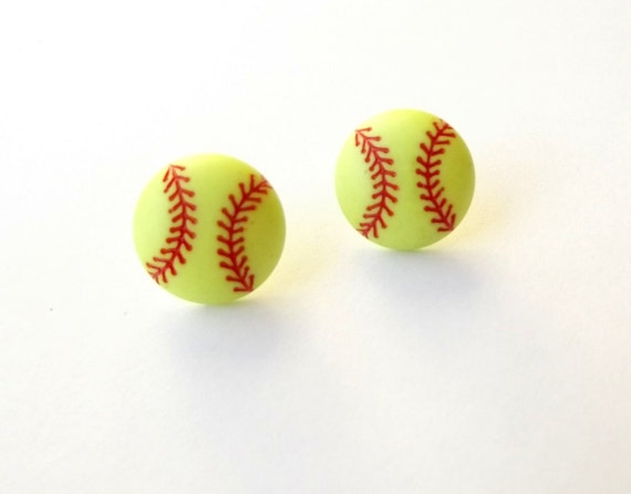 softball studs softball earrings sports earrings softball